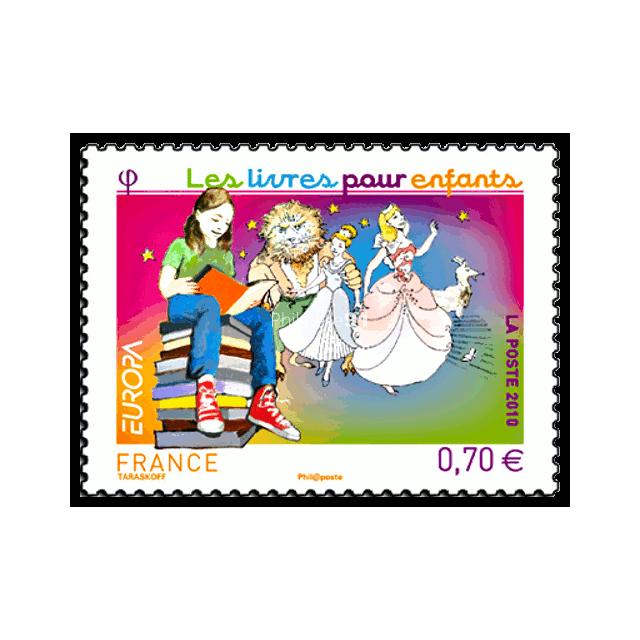 timbre n 176 4445 europa 2010 les livres pour enfants