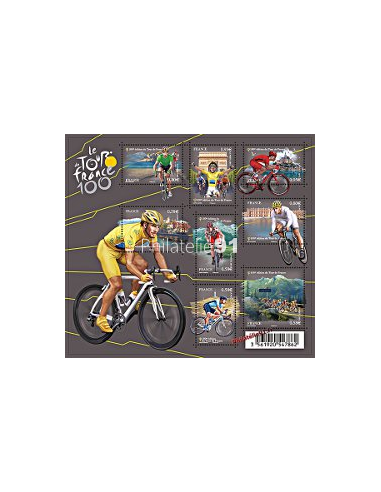 n° 4755 à 4762**(F4755) - 100ème Edition du Tour de France. Cyc