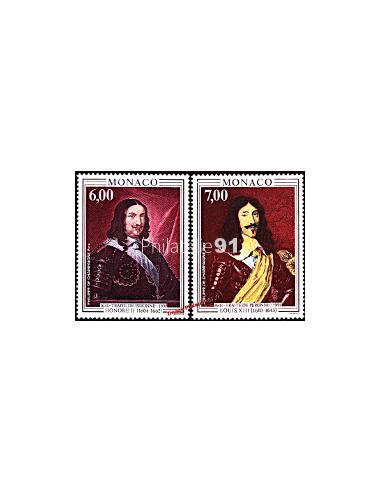 MONACO - n° 1787 - 1788 - Prince Honoré de Monaco et Louis XIII