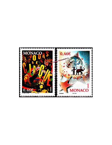 MONACO -  n°  2347 à 2348 ** - Cirque - Europa 2002