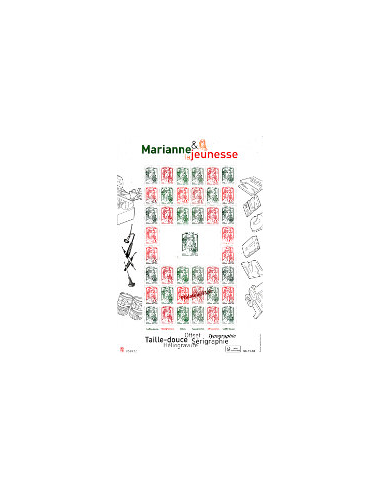 N° 4774A - Feuille multi-techniques Marianne 2013