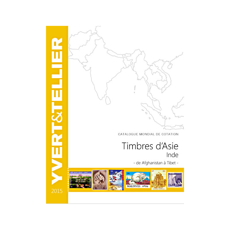 Asie - Inde 2015, de Afghanistan à Tibet - Yvert&Tellier