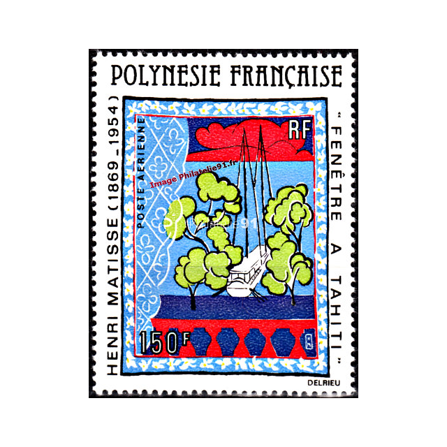 Timbre de polyn sie pa n 153 matisse timbres des dom tom for Matisse fenetre a tahiti