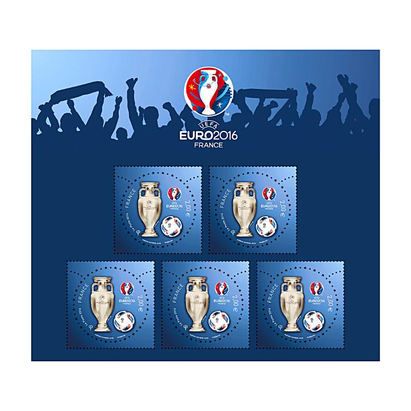 n° 5050A - bloc Euro Foot UEFA ™ 2016 3D (5x2€)