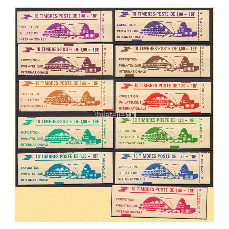 Carnet n° 2220-C3A - Type LIBERTE de DELACROIX - 11 Carnets de couleurs différentes