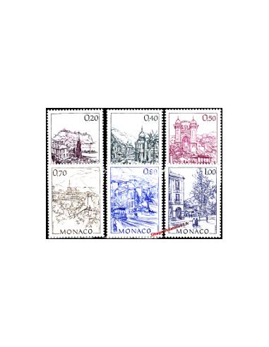 MONACO - n° 1762 à 1767 - Monaco d'autrefois (III) - H. Clerissi