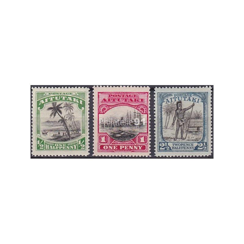 AITUTAKI - n°   29 à 31 ** - Type de 1920 (180531-4)