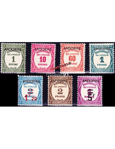 Andorre Français - Taxe n°    9 à 15 *