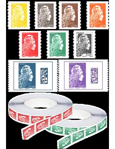 2018-07-23 - Les 11 timbres autocollants Marianne l'Engagée