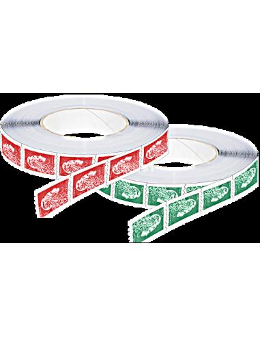 2018-07-23 - Les 2 timbres roulettes autocollants Marianne l'Engagée : à l'unité, ou en bande de 10 ou 11 timbres