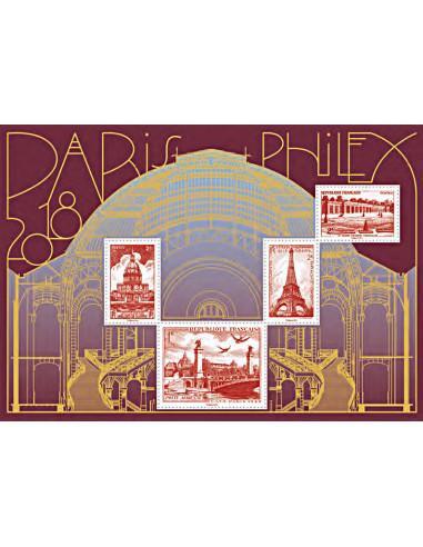 n° 5222 à 5225 (F5222) - Bloc doré PARIS-PHILEX 2018 - Monuments de Paris