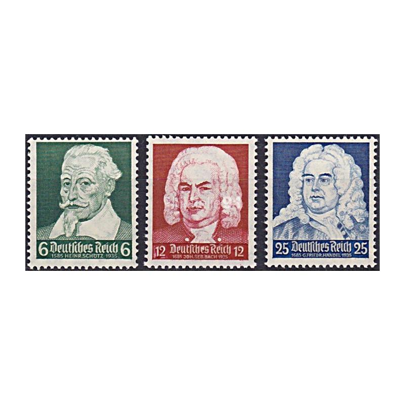 ALLEMAGNE - Reich - n°  532 à 534 ** - Compositeurs allemands (181102-9)