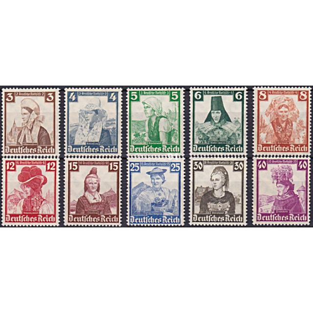 ALLEMAGNE - Reich - n°  547 à 556 ** - Costumes régionaux (181102-10)
