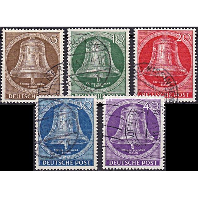 BERLIN - n°   87 à 91 Oblitérés - Cloche de la Liberté (190108-3)