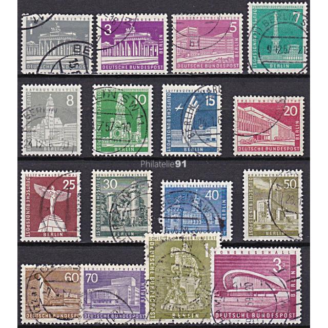 BERLIN - n°  125 à 135A Oblitérés - Monuments (III) (190109-2)