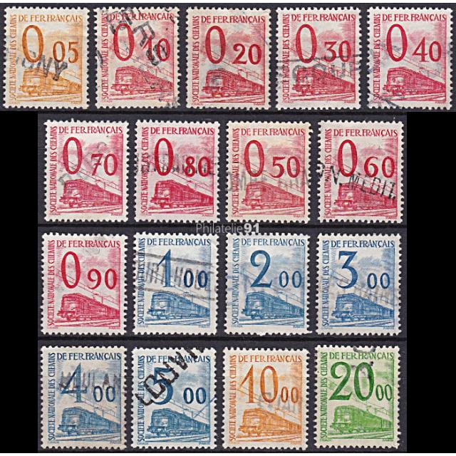 """Colis postaux - """"Petits Colis""""  n°   31 à 47 - Oblitérés  (190110-15)"""