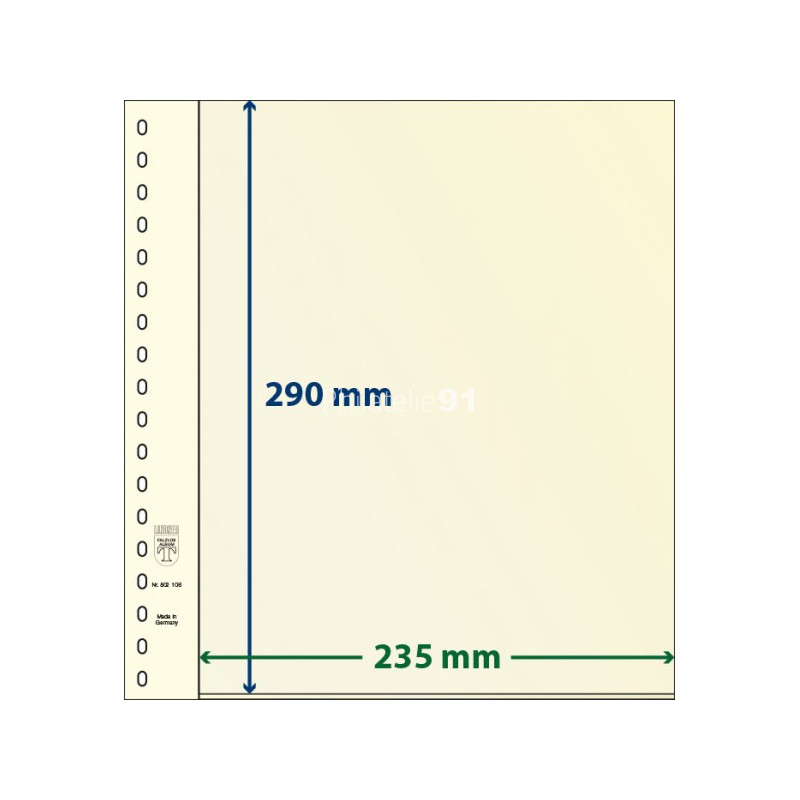 LINDNER - Feuilles neutres LINDNER-T - 1 BANDE (Paquet de 10) - Réf. 802106P