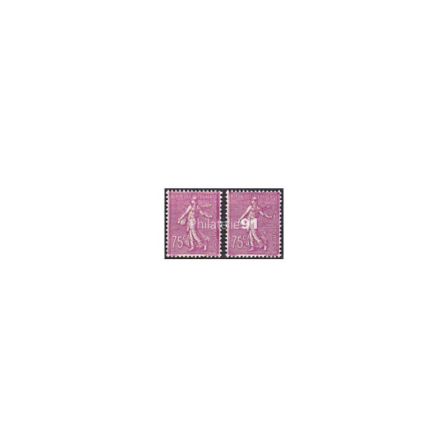 n°  202 * - Type Semeuse lignée - Variété Trait violet à droite (190207-1)