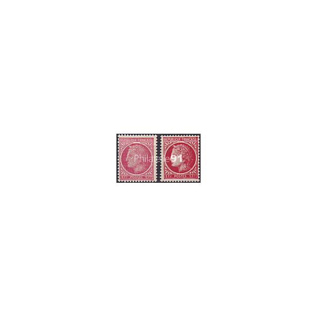 n°  676  ** - Type Cérès de Mazelin - Variété de couleur (190207-2)