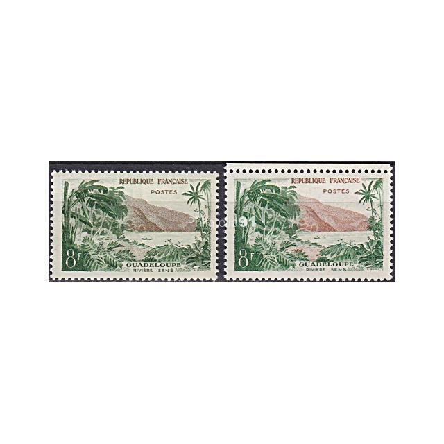 n° 1125 ** - Tourisme - Rivière Sens en Guadeloupe - Variété Fond verdâtre (190207-10)