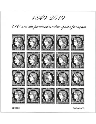 n° 5305 (F5305) - Bloc Cérès - 170 ans du premier timbre français (TP 0,88€)