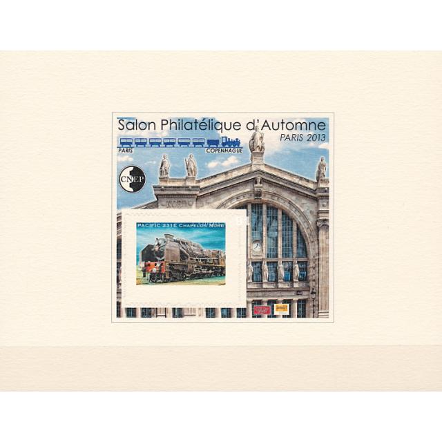 """FRANCE - ÉPREUVE DE LUXE - C.N.E.P. n° 64b ** - Locomotive """"Pacific 231E"""" - Gare du Nord (190515-15)"""