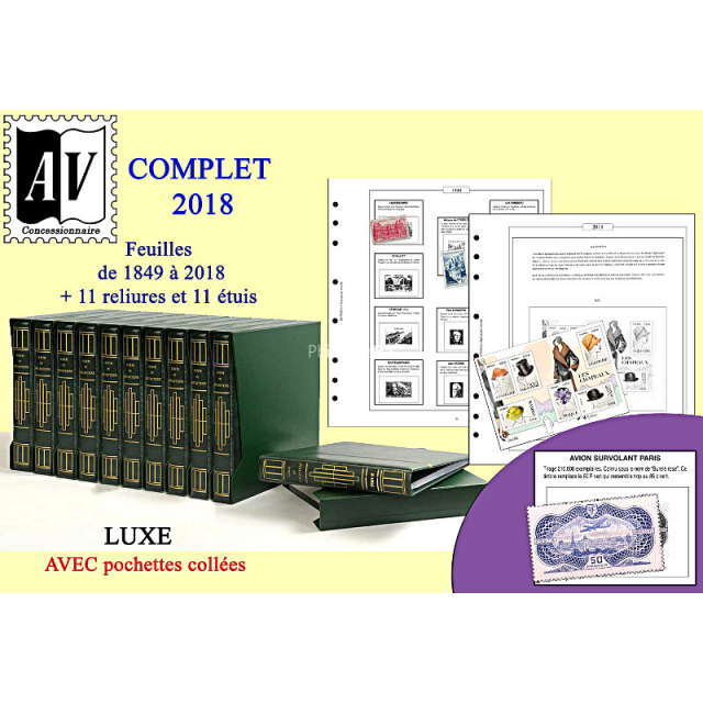 A.V. EDITIONS - 11 volumes + jeu FRANCE Luxe de1849 à 2018