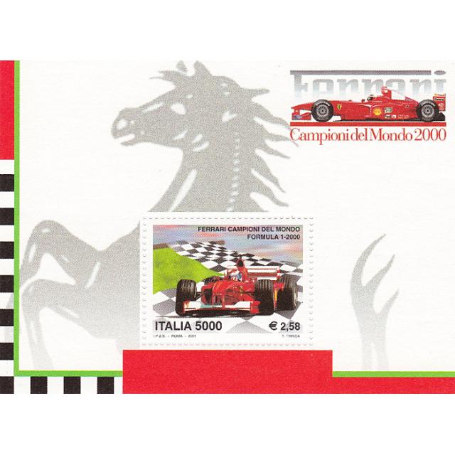 ITALIE - Bloc-Feuillet n°   30 ** - Écurie Ferrari championne du monde de F1