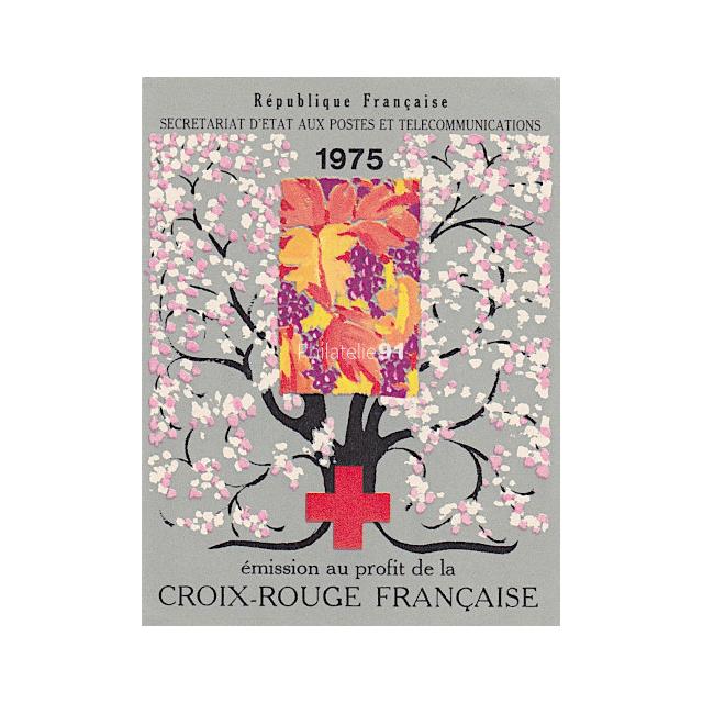 Carnet Croix-Rouge n° 2024 - Année 1975 - Oblitéré