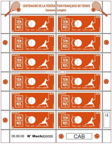 - F8 - Feuillet de France du timbre...