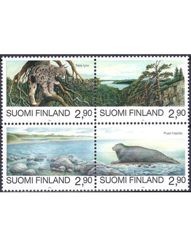 FINLANDE - n° 1258 à 1261 ** (Bloc de...