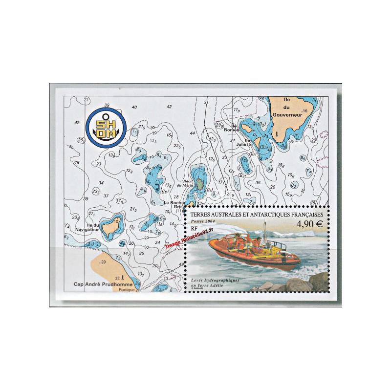 TAAF - n° 394 - BF n° 10** - Levées hydrographiques en Terre Adélie