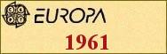 Timbres EUROPA 1961