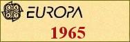 Timbres EUROPA 1965
