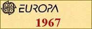 Timbres EUROPA 1967