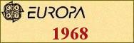 Timbres EUROPA 1968