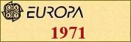 Timbres EUROPA 1971