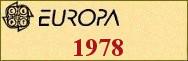 Timbres EUROPA 1978