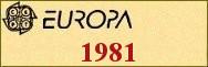 Timbres EUROPA 1981