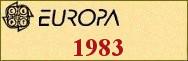 Timbres EUROPA 1983