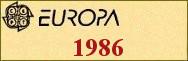 Timbres EUROPA 1986