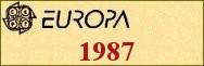 Timbres EUROPA 1987