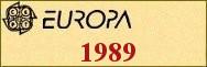 Timbres EUROPA 1989
