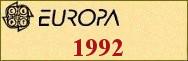 Timbres EUROPA 1992