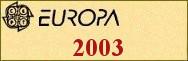 Timbres EUROPA 2003