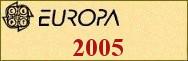 Timbres EUROPA 2005