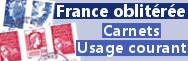 Carnets usage courant oblitérés