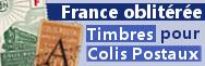 Colis postaux oblitérés