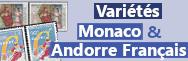 Variétés - Monaco & Andorre fr.