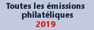 Tous les timbres et émissions de 2019